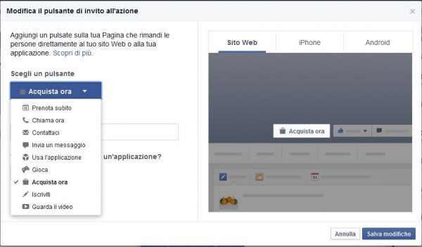 promuovere su Facebook