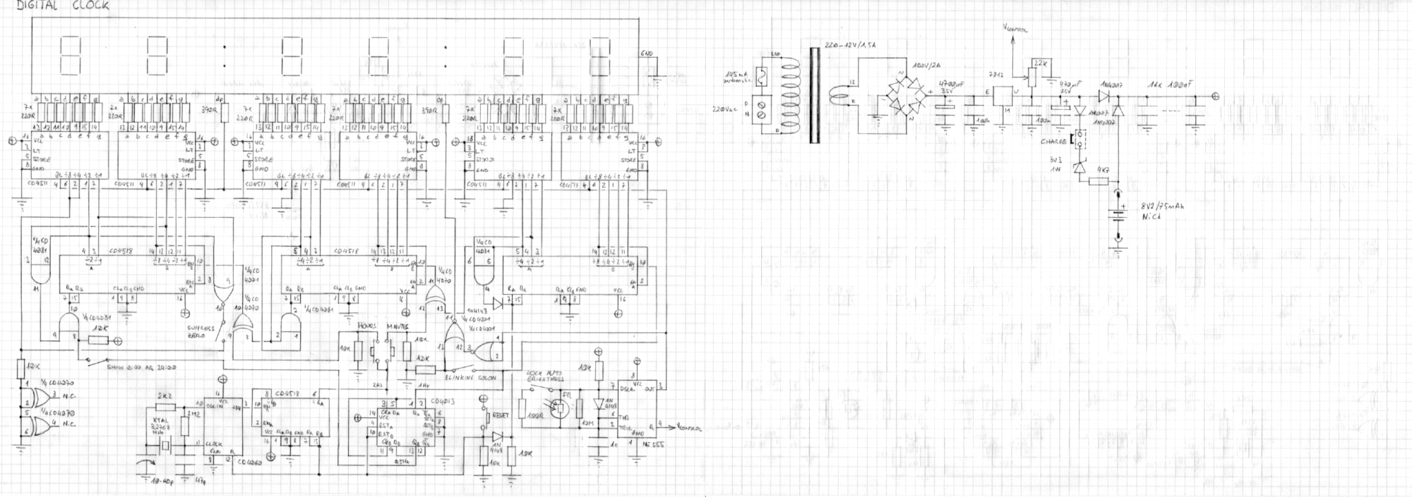 hight resolution of circuit diagram of the c mos clock click to enlarge
