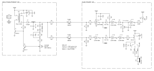 small resolution of circuit diagram of the whole analog section high voltage generator unit geiger tubes and