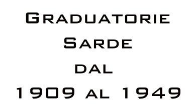 Photo of Graduatorie Sarde dal 1909 al 1949