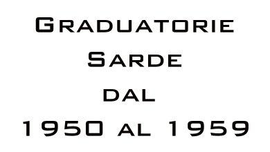Photo of Graduatorie Sarde dal 1950 al 1959