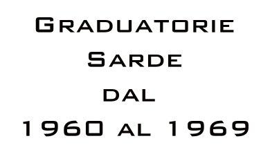 Photo of Graduatorie Sarde dal 1960 al 1969