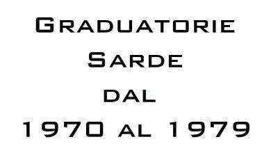 Photo of Graduatorie Sarde dal 1970 al 1979