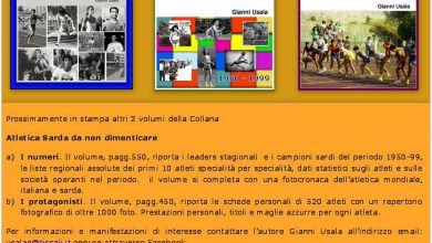 """Photo of In stampa altri 2 volumi della collana """"Atletica Sarda da non dimenticare"""""""
