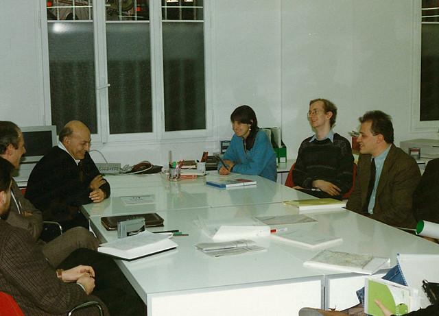 Marvin Minsky (MIT), pioniere dell'intelligenza artificiale, visita il Laboratorio di Ricerca e Sviluppo Didalab (1989)