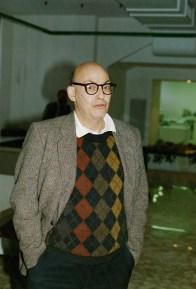 Marvin Minsky (MIT), pioniere dell'intelligenza artificiale, visita il Laboratorio di Ricerca e Sviluppo Didalab (1989).