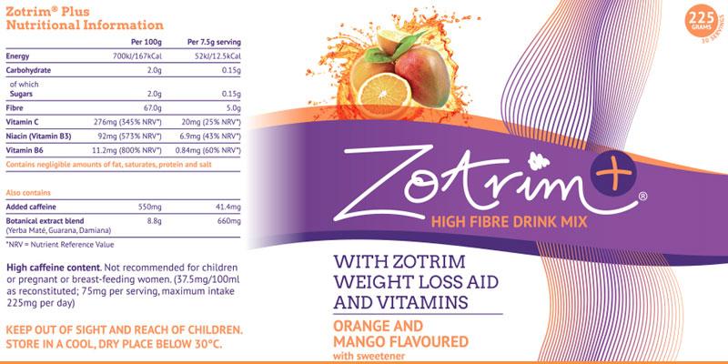 Zotrim weight loss aid and vitamins