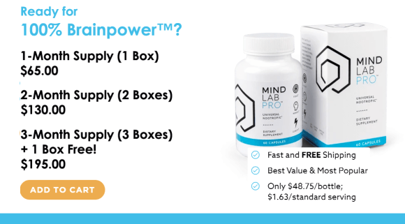 Mind Lab Pro prices and packages