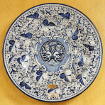 Leone Blue Round Wall Plate