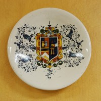 Linea Pisa Round Wall Plater Blue