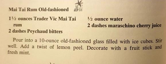 Rum del Mai Tai Cocktail ricetta del Mai Tai rum martinicano wray nephew