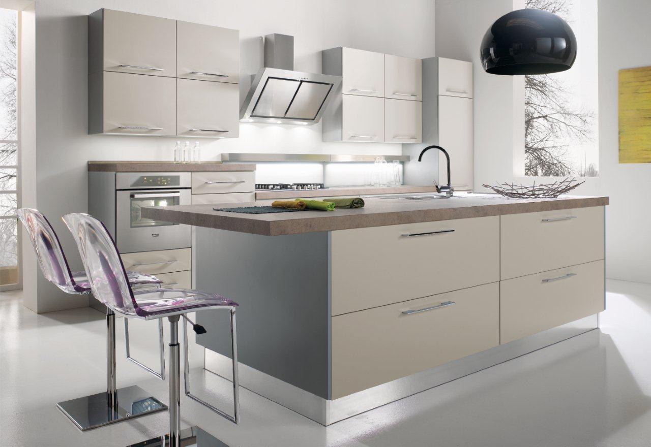 Cucina Moderna Rovere Grigio Finiture Disponibili With