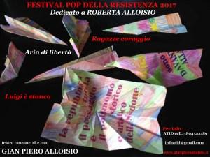 Festival Pop della Resistenza dedicato a Roberta Alloisio @ Teatro Ambra - Alessandria | Alessandria | Piemonte | Italia