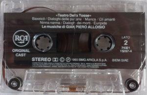 TEATRO DELLA TOSSE - Musiche di Gian Piero Alloisio