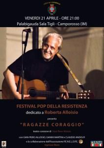 Festival Pop della Resistenza dedicato a Roberta Alloisio @ Palabigauda  - Camporosso (IM) | Camporosso | Liguria | Italia