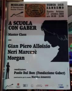 A Scuola con Gaber - con Paolo Dal Bon, Gian Piero Alloisio, Neri Marcoré, Morgan. @ Teatro Ariston - Sanremo (IM)   Sanremo   Liguria   Italia
