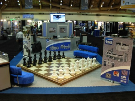 ChessHouse Giant Chess at CMS Tradeshow display