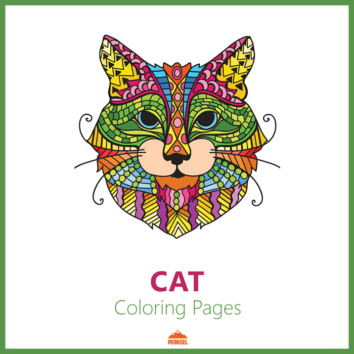 Printable Coloring Book Cats Giant Coloring Posters