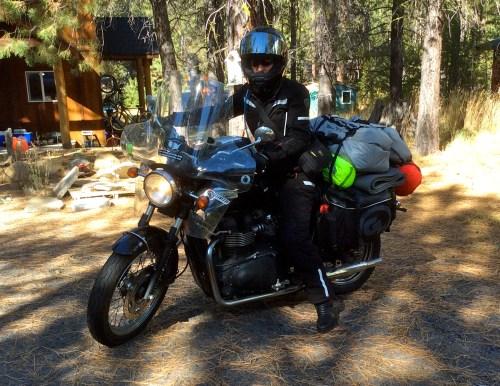 "Black Tie 2 Black Top rider Danell Lynn's ""1 Woman, 1 Bike, 1 Year, 50 US States + Canada"""