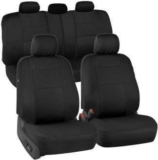 Solid Black PolyPro Seat Covers for jeep