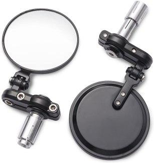 3 Inch Round Folding Bar End Side Mirror