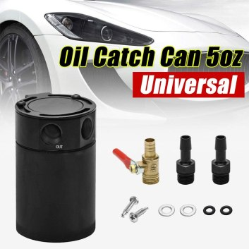 Compact Baffled 2-Port Oil Catch Can Tank