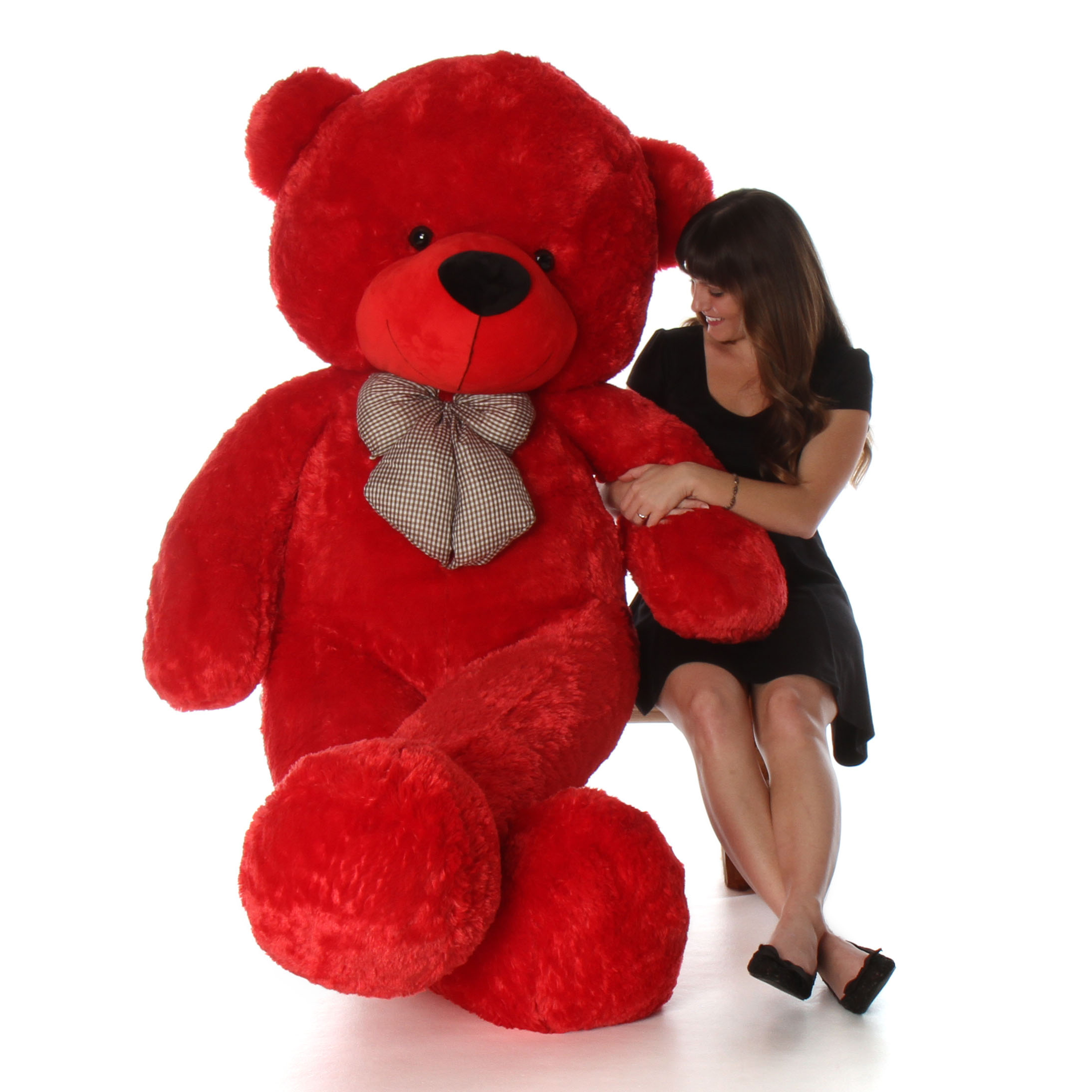 6 Foot Huge Life Size Red Valentines Day Teddy Bear Bitsy