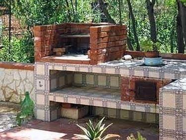 Mattone refrattario  barbecue  Mattone refrattario  arredamento giardino