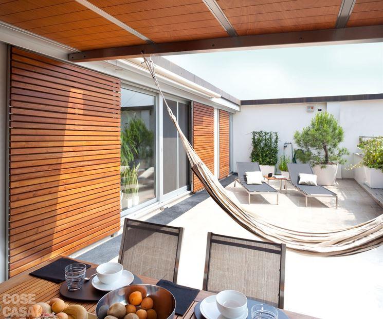 Coperture per terrazzi  pergole e tettoie da giardino