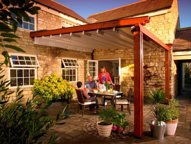 Tettoie per terrazzi  pergole e tettoie da giardino