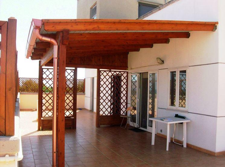 Copertura terrazzo in legno  Pergole e tettoie da