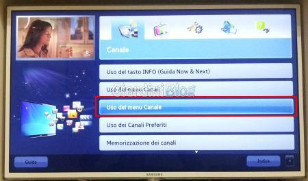 tv samsung uso menu canale