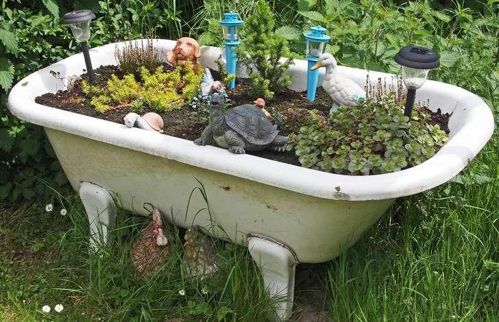 Idee originali per il giardino giardini nel mondo for Vasca per giardino