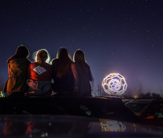 Buckyball By Leo Villareal Sits Outside Of Crystal Bridges Museum Of American Art In Bentonville Arkansas Where The Walton Family Foundation Supports
