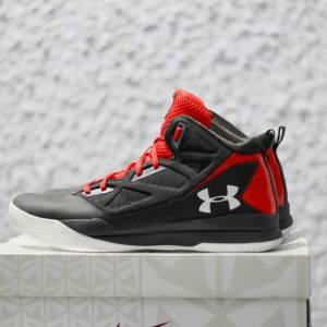 giày bóng rổ chính hãng Under Armour Jet mid grey red
