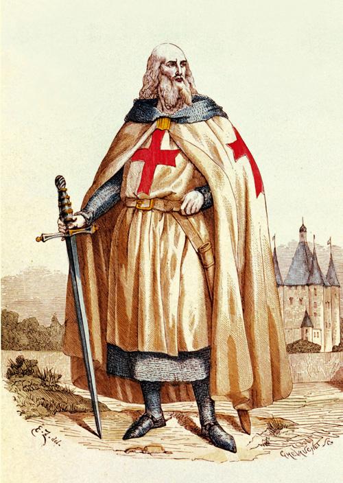 Jacques DeMolay, o último Grão Mestre da Ordem dos Pobres Cavaleiros de Cristo, que teria convocado o Papa Clemente V e o rei Filipe, o belo a comparecer perante o tribunal divino no prazo de um ano, o que se teria cumprido.