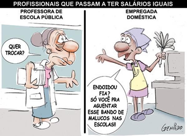 Professoras e Empregadas domesticas por Genildo