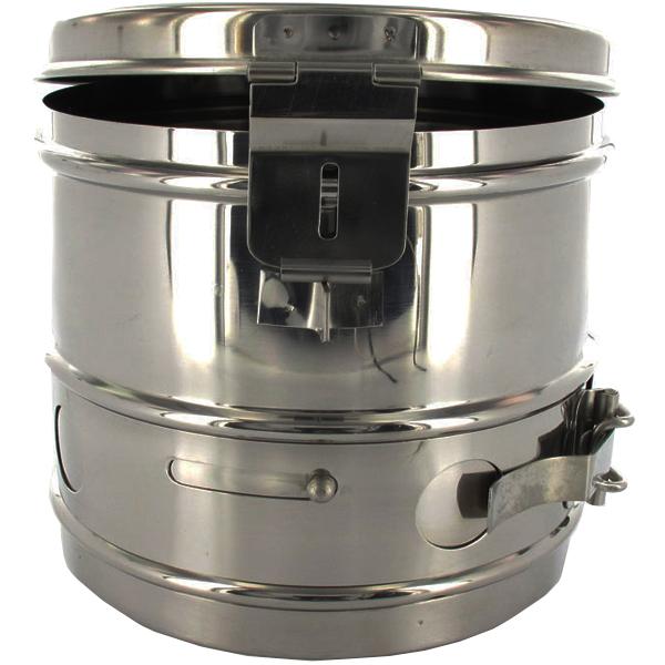 CESTELLO DRUM PER STERILIZZAZIONE in acciaio inox  autoclavabile  12xh12cm