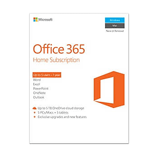 Microsoft Office 365 - Home Subscription 5 PCs + 5 Tablets