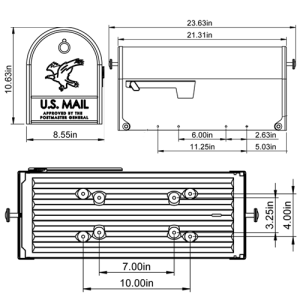 E16X20B01 Mailbox Technical Specifications