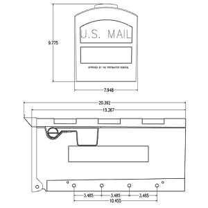 GMB505B01 Mailbox Technical Specifications