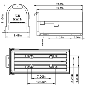 ES16B Mailbox Technical Specifications