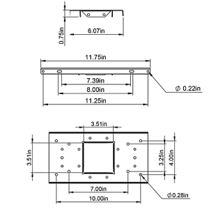 UMBS0B06 Mailbox Mounting Board Technical Specifications