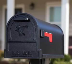 Arlington decorative black mailbox