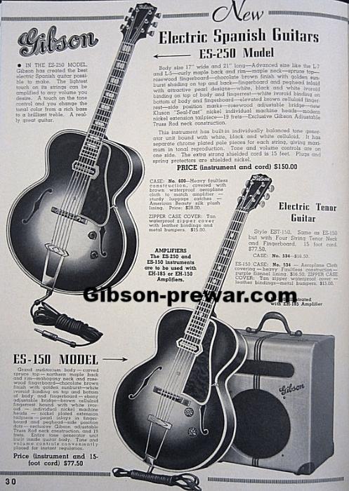 gibson single pickup wiring diagram 1999 gmc jimmy radio pre-war guitars, kevin mark designs - 1938 es150