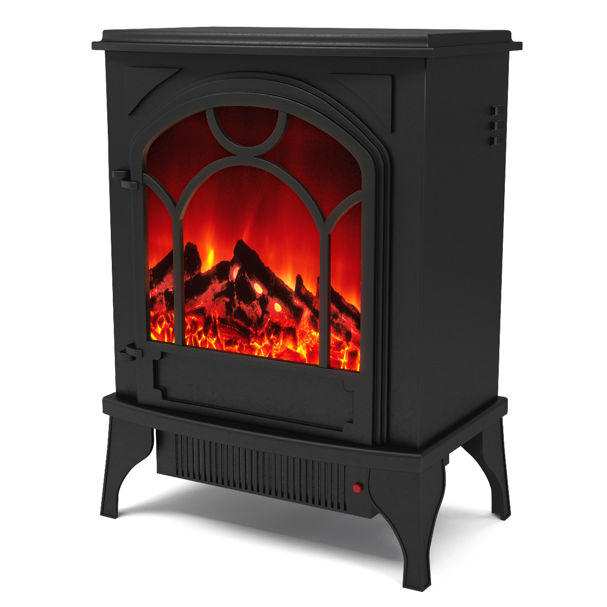 Aries Electric Fireplace Free Standing Portable Space