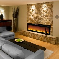 Reno 60 Inch Log Built-In Recessed Wall Mounted Electric ...