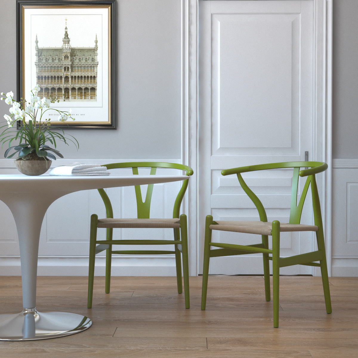 accent dining chairs comfortable high chair timber in green