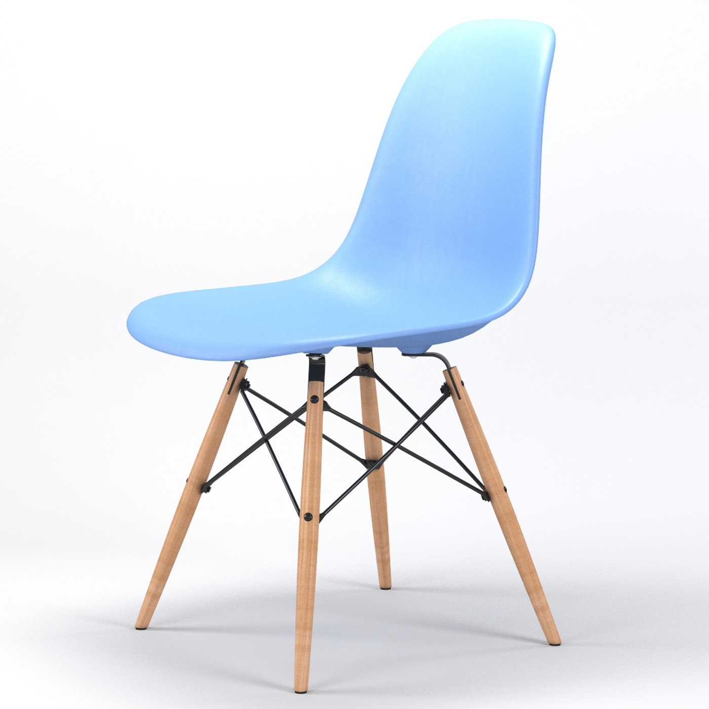 chair with light hammock stand canada armin wood leg dining side in blue