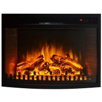 33 Inch Curved Ventless Electric Space Heater Built-in ...